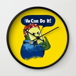 Vegan do It Avocado Wall Clock