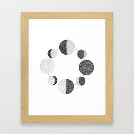 Luna Phases Framed Art Print