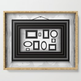 Abstract background with frames Serving Tray