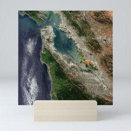 San Francisco Satellite image Mini Art Print