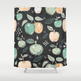 Seamless pattern with Deers. Scandinavian Style Shower Curtain