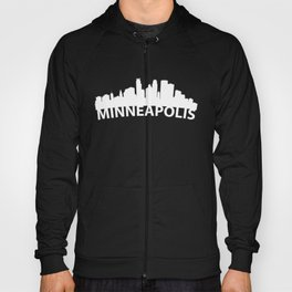 Curved Skyline Of Minneapolis MN Hoody