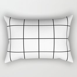 black grid on white background Rectangular Pillow