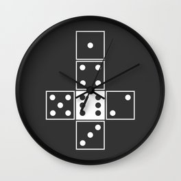 Gray Unrolled D6 Wall Clock