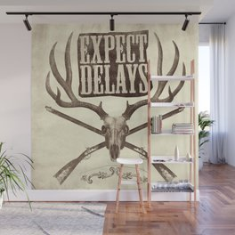 Expect Delays Wall Mural