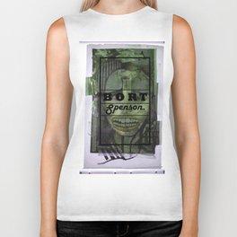 green portrait- looks a bit like Cheryl Cole Biker Tank