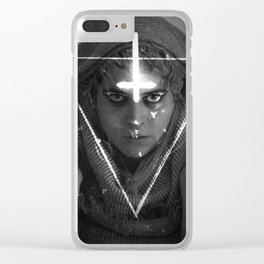 Lesbian Crucifix Clear iPhone Case
