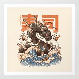 Great Sushi Dragon Kunstdrucke