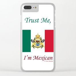 Mexican Flag Clear iPhone Case