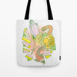 Fish, Snake & Hands Tote Bag