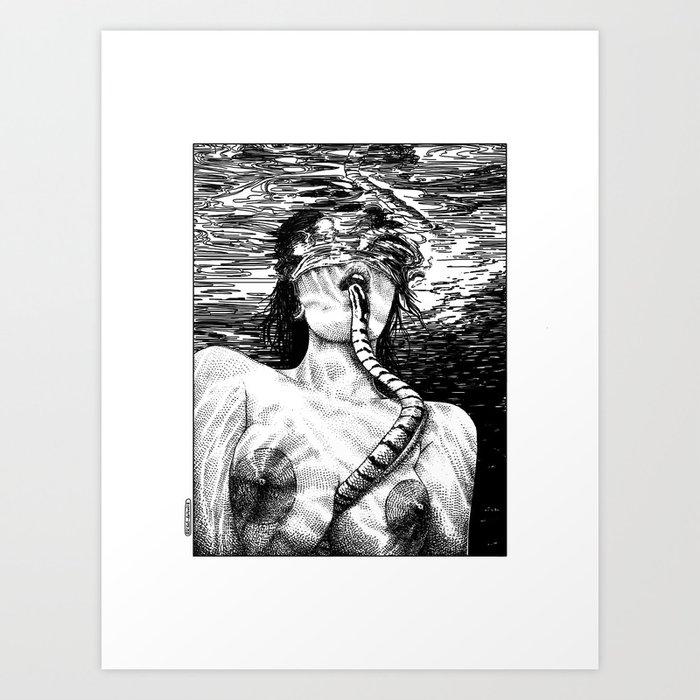 asc 509 - La morsure salée (The salty bite)  Second version Kunstdrucke