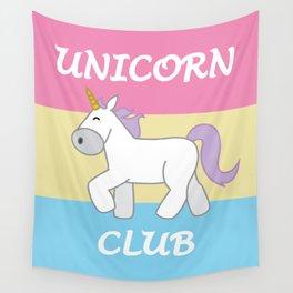 Pan Pride Flag Unicorn Wall Tapestry
