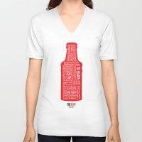 true blood V-neck T-shirts featuring True Blood by Luke Eckstein