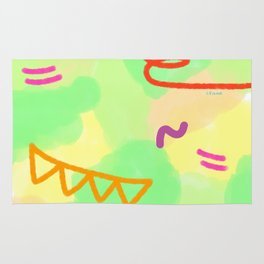 Life Is A Circus no.3 - pop pattern abstract modern design Rug