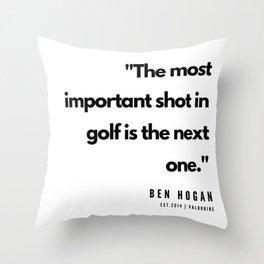 22    | Golf Quotes | 190606 Throw Pillow