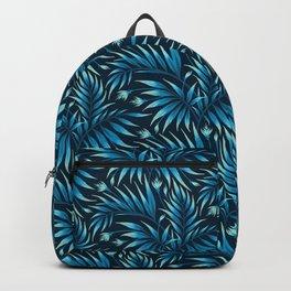 Waikiki Palm - Petrol Blue Backpack