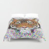 tiger Duvet Covers featuring Tiger by David Zydd