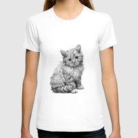 kitten T-shirts featuring Kitten by Molly Morren