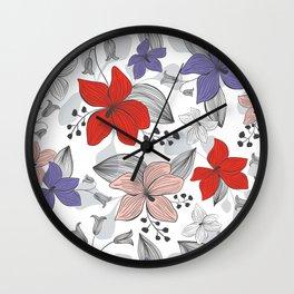 Avery White Wall Clock