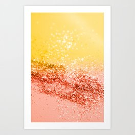 Tropical Summer Lady Glitter #2 #shiny #decor #art #society6 Art Print