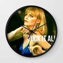 Fuck It All Wall Clock