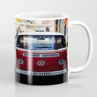 vw Mugs featuring Vw T1 by Nechifor Ionut