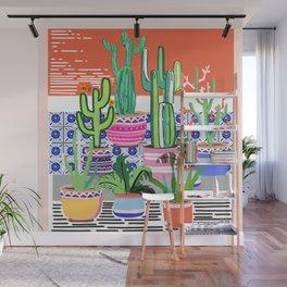 Cactus Window Wall Mural