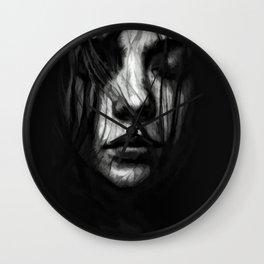 ritratto in nero Wall Clock