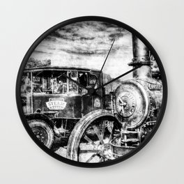 Steam Lorry And traction Engine Vintage Wall Clock