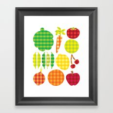 Gingham Goods Framed Art Print