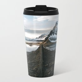 Mountain beach road in Iceland - Landscape Photography Travel Mug