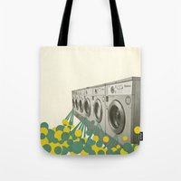 waterfall Tote Bags featuring Waterfall by Cassia Beck