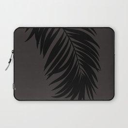 Palm Leaf Black on Seaside Stone Laptop Sleeve