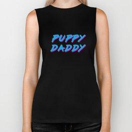 Puppy Daddy in Cyan/Magenta Biker Tank