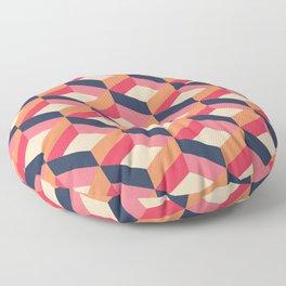 Retro Geo - Navy & Pink Floor Pillow