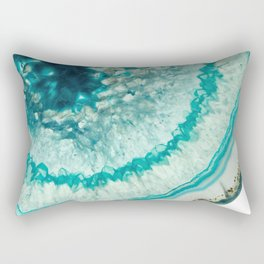 On the edge of an icy agate abyss Rectangular Pillow