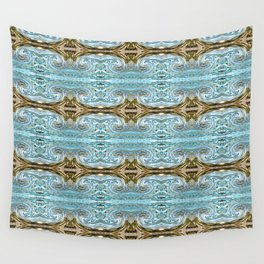 166 - water and sand abstract pattern Wall Tapestry