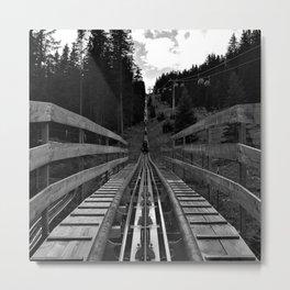 adventure park hög schneisenfeger coaster alps sfl tyrol austria europe black white Metal Print