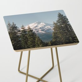 Mt Shasta Morning Side Table