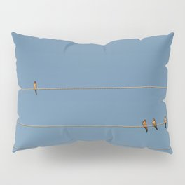 swalows on wire Pillow Sham