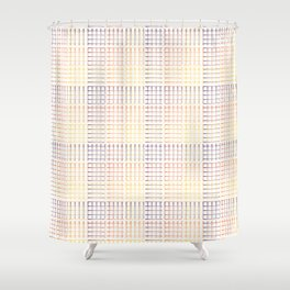 Abstract Geometric Grid Pattern Vector Shower Curtain