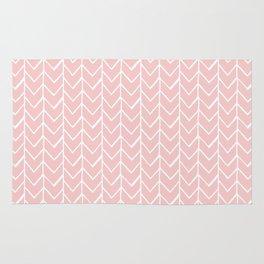 Herringbone Pink Rug