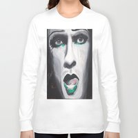 neil gaiman Long Sleeve T-shirts featuring Neil by 4:F by Freddie:4