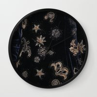 constellations Wall Clocks featuring Constellations  by dreamshade