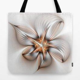 Elegance of a Flower, modern Fractal Art Tote Bag