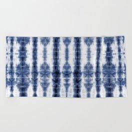 Tiki Shibori Blue Beach Towel