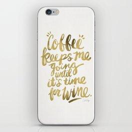 Coffee & Wine – Gold iPhone Skin