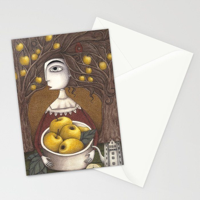 Portrait of an Apple Orchard Stationery Cards