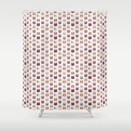 Cute Kitty Cat Faces Pattern Shower Curtain