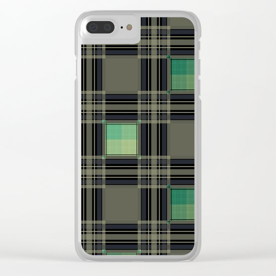 Green black nice cage . Clear iPhone Case